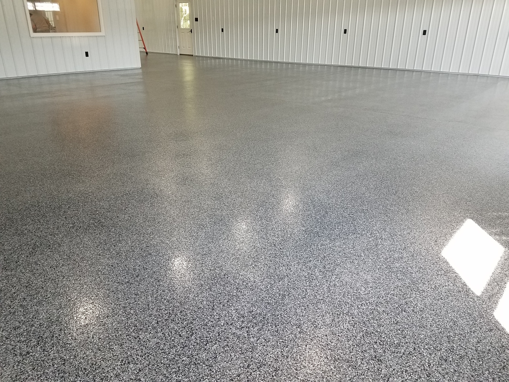 Commercial business seamless flooring