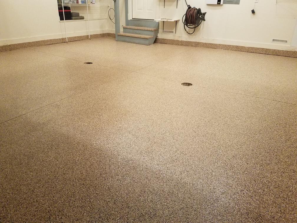 Saddletan Garage Floor