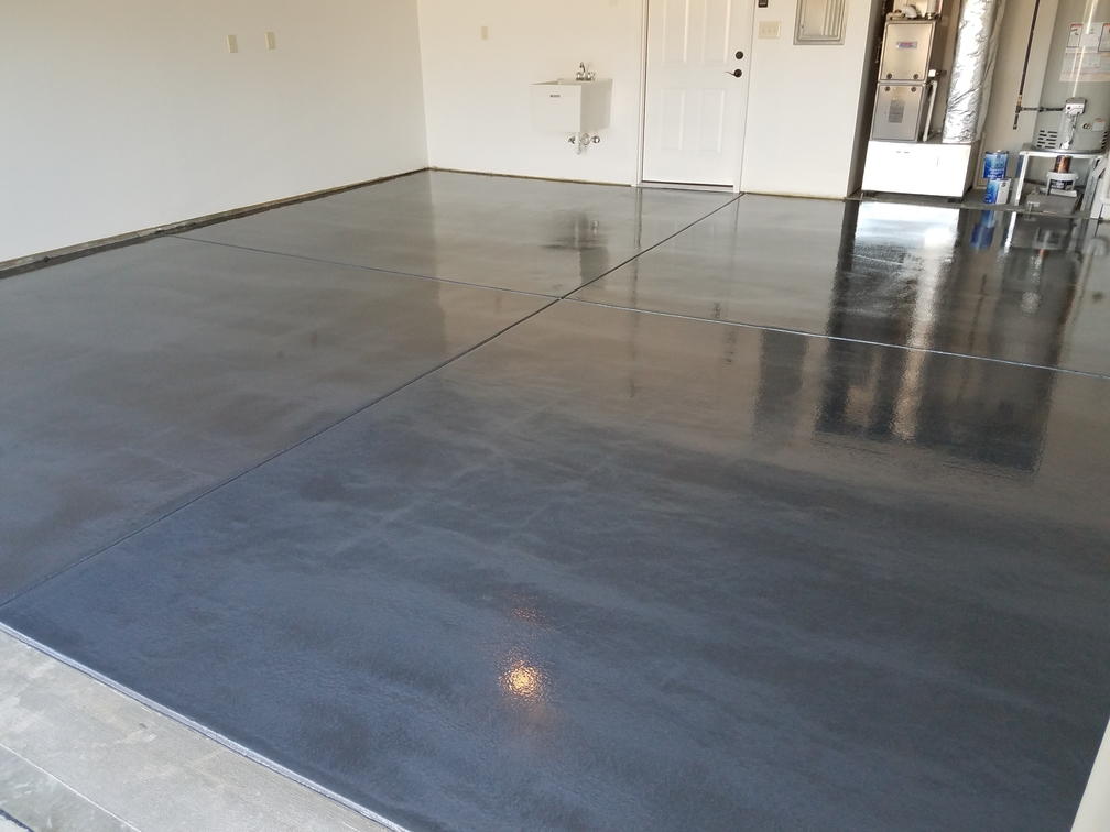 Metallic Polyaspartic Concrete Floor Coatings