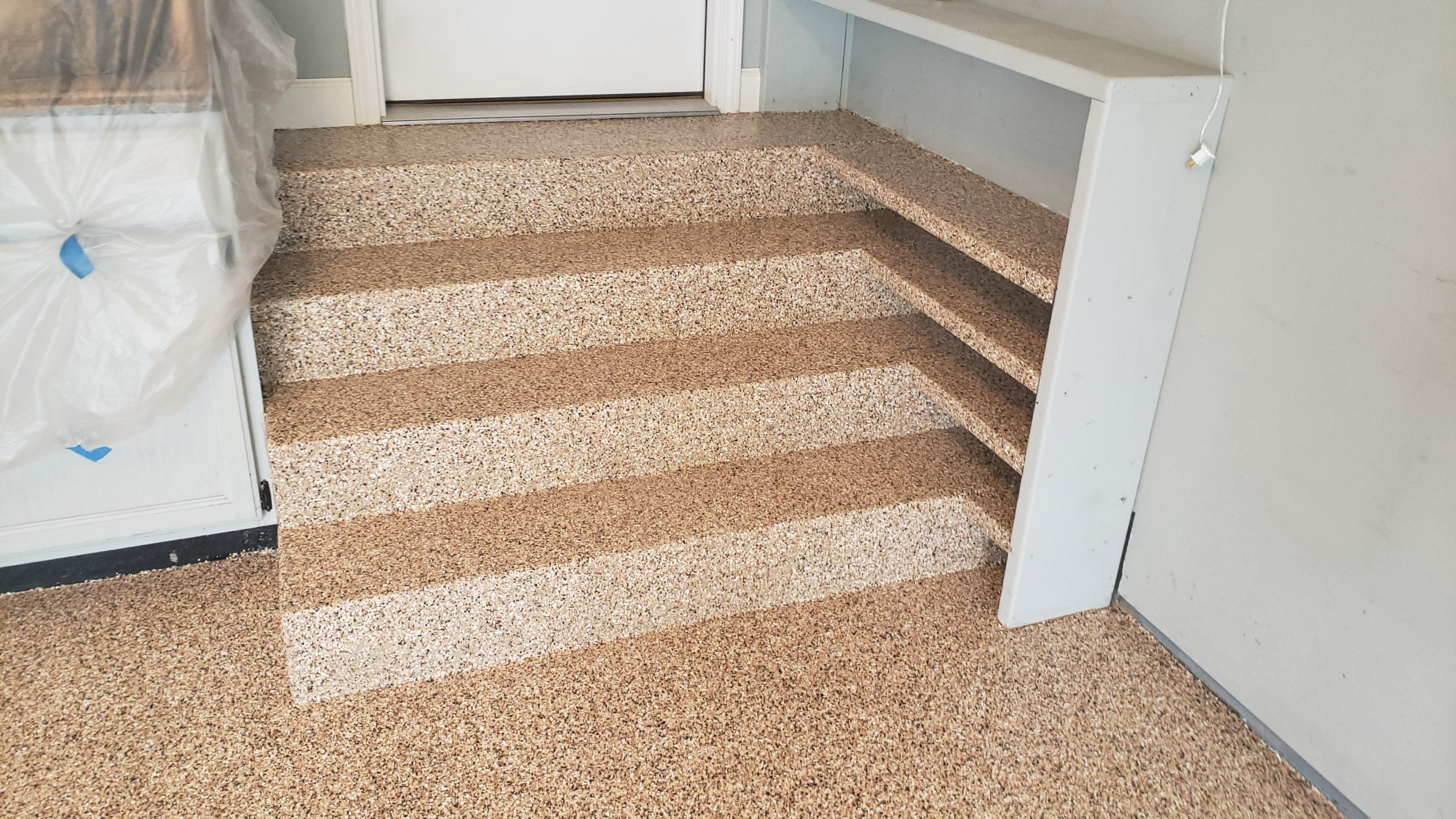epoxy coated steps